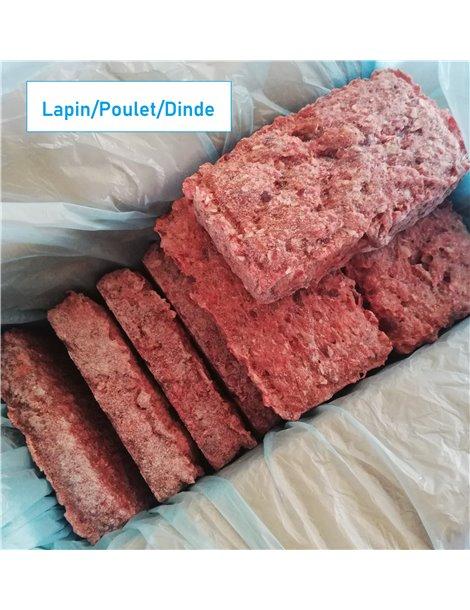 BARF Lapin/Poulet/Dinde 4kg