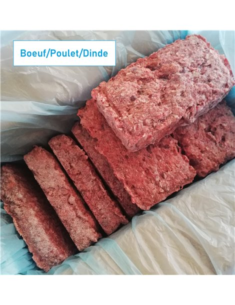 BARF Boeuf/Poulet/Dinde 4kg