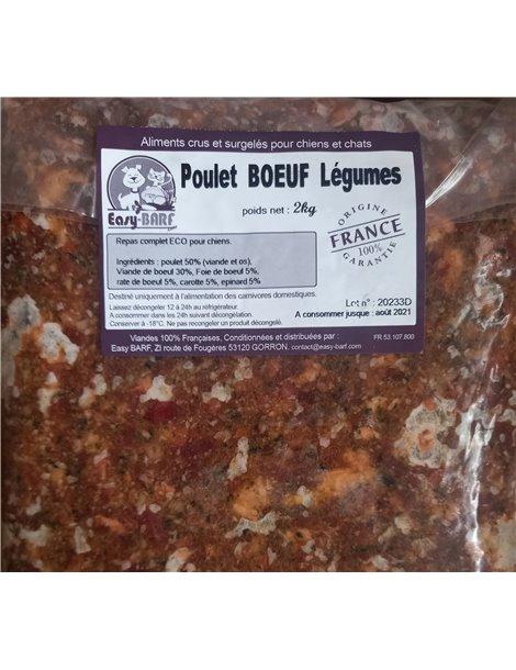 barf-poulet-boeuf-legumes-abats-2kg