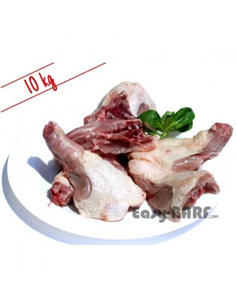 dos avant de poulet barf 10kg