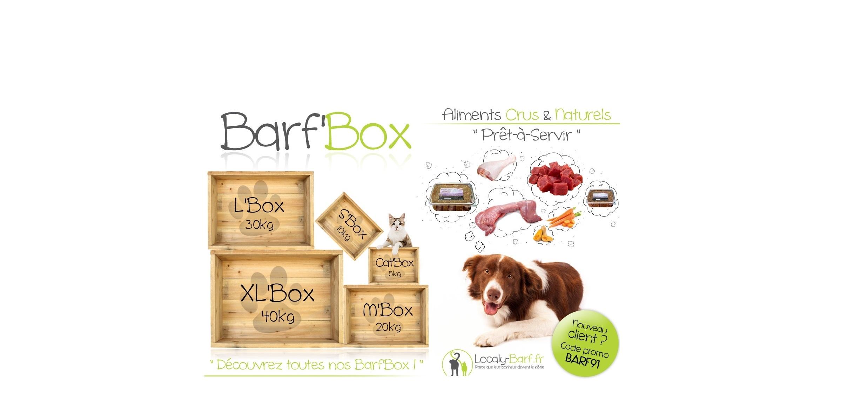 Repas complets crus et naturels pour chiens et chats