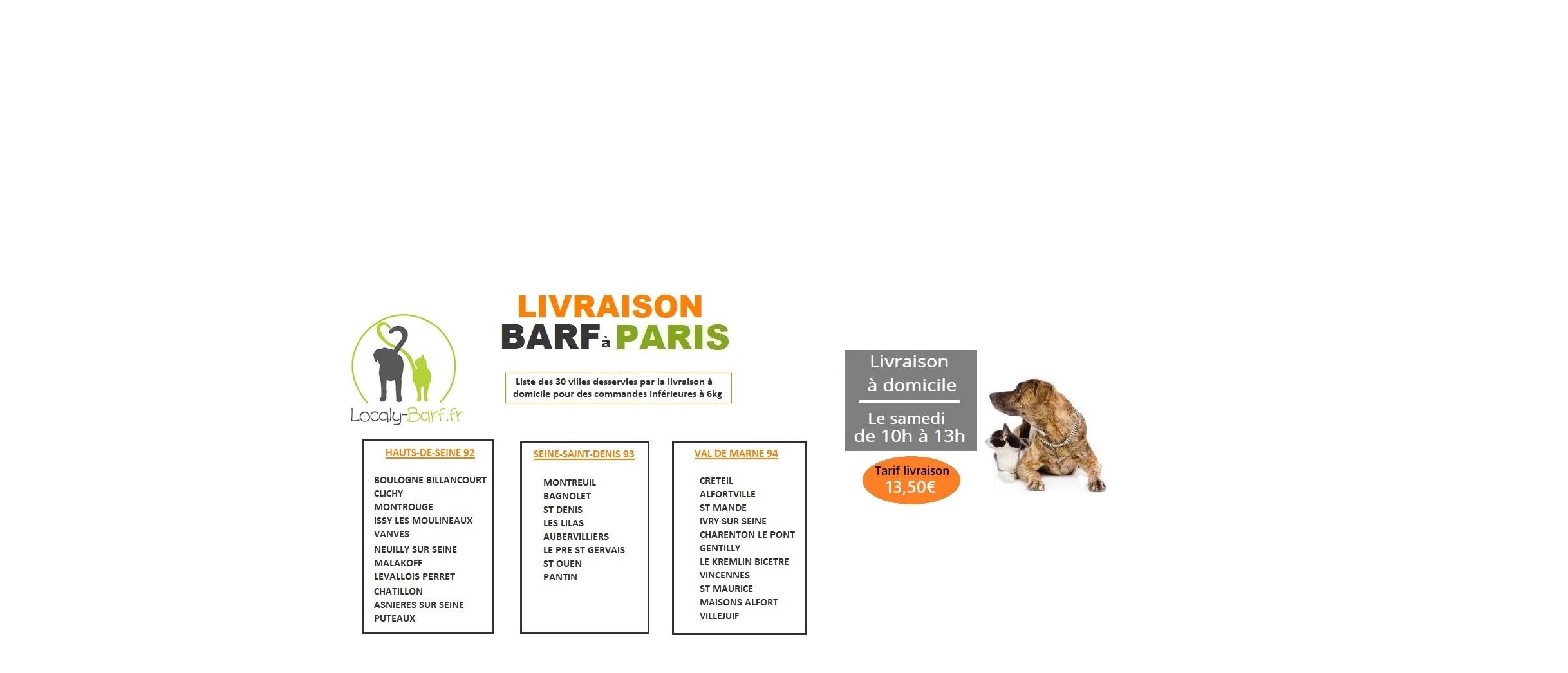 LIVRAISON BARF A PARIS